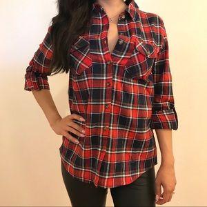 Tops - Jessie Plaid Button Up Flannel Shirt